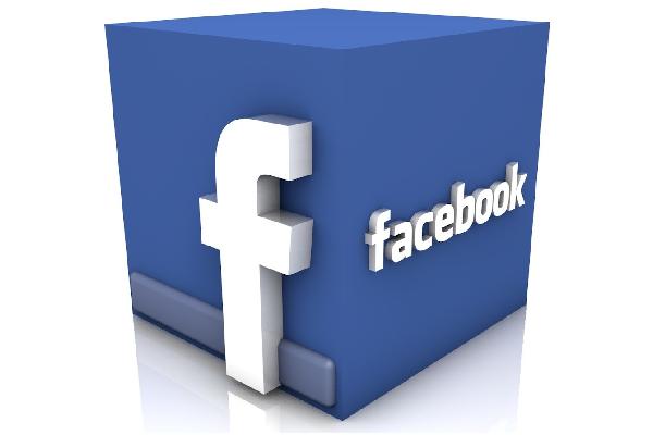 facebook logo cube